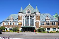 Gare du Palais, det Quebec City drevet posterar, Kanada arkivbild