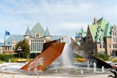 Gare du Palais in de Stad van Quebec, Canada Royalty-vrije Stock Fotografie