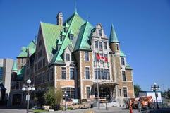 Gare du Palais, het Busstation van de Stad van Quebec, Canada Stock Fotografie