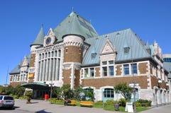 Gare du Palais, estación de tren de la ciudad de Quebec, Canadá Fotos de archivo