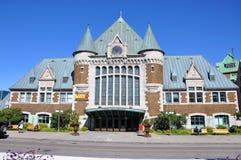 Gare du Palais, estación de tren de la ciudad de Quebec, Canadá Fotografía de archivo