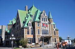 Gare du Palais, Quebec City Bus Station, Canada Stock Photography