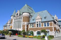 Gare du Palais, Quebec City Train Station, Canada Stock Photos