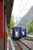 Gare en montagnes Images libres de droits