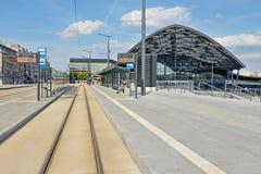 Gare ferroviaire à Lodz Image libre de droits