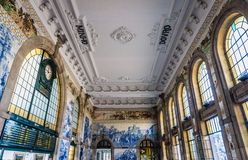 Gare ferroviaire à Porto photos stock