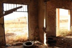 Gare ferroviaire abandonnée à Albacete photographie stock