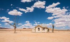 Gare ferroviaire abandonnée de Garub dans le désert, Namibie photographie stock