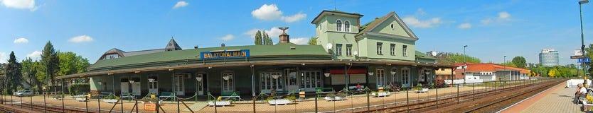 Gare ferroviaire, Balatonalmadi, Hongrie photo libre de droits