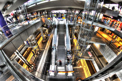Gare ferroviaire Berlin, Allemagne Images libres de droits