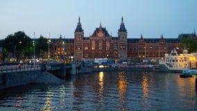 Gare ferroviaire d'Amsterdam Centrail Image libre de droits