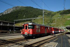 Gare ferroviaire d'Andermatt, Suisse Image stock
