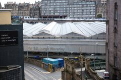 Gare ferroviaire d'Edimbourg Waverley Images stock