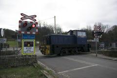 Gare ferroviaire d'héritage d'Elsecar et dépôt, Elsecar, Barnsley, événement de réchauffeur d'hiver de South Yorkshire le 19 févr Photo stock
