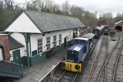 Gare ferroviaire d'héritage d'Elsecar et dépôt, Elsecar, Barnsley, événement de réchauffeur d'hiver de South Yorkshire le 19 févr Images libres de droits