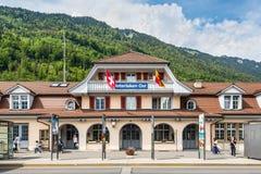 Gare ferroviaire d'Interlaken Ost photos libres de droits