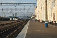 Gare ferroviaire d'Orenbourg image libre de droits