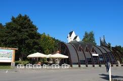 Gare ferroviaire dans la ville de Predean photos stock