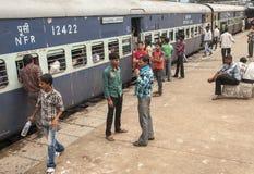 Gare ferroviaire dans nouveau Delh Photos stock