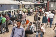 Gare ferroviaire dans nouveau Delh Image libre de droits