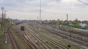 Gare ferroviaire dans Tver, Russie Photos stock