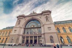 Gare ferroviaire de Budapest Keleti Photos stock