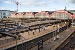 Gare ferroviaire de central de Copenhague Image libre de droits