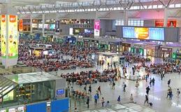 Gare ferroviaire de Changhaï, porcelaine Photos stock