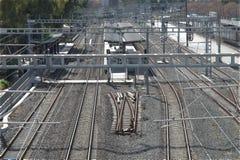 Gare ferroviaire de courant électrique Image stock