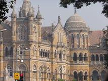 Gare ferroviaire de CST dans Mumbai, Inde Photos libres de droits