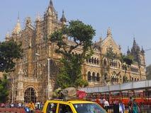 Gare ferroviaire de CST dans Mumbai, Inde Photo stock