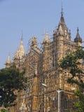Gare ferroviaire de CST dans Mumbai, Inde Photos stock