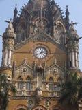 Gare ferroviaire de CST dans Mumbai, Inde Photo libre de droits