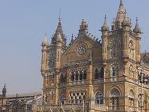 Gare ferroviaire de CST dans Mumbai, Inde Photographie stock