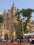 Gare ferroviaire de CST dans Mumbai, Inde Photographie stock libre de droits