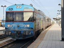 Gare ferroviaire de Faro Photo libre de droits