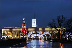 Gare ferroviaire de Finlyandsky Photographie stock