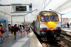 Gare ferroviaire de Liège-Guillemins Photographie stock libre de droits