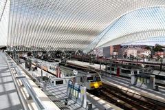 Gare ferroviaire de Liège Guillemins Image stock