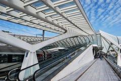 Gare ferroviaire de Liège-Guillemins, Belgique Image libre de droits