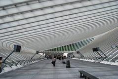 Gare ferroviaire de Liège-Guillemins, Belgique Photographie stock libre de droits