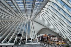 Gare ferroviaire de Liège-Guillemins, Belgique Photographie stock