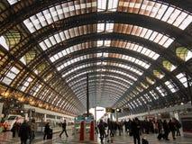 Gare ferroviaire de Milan Centrale Image libre de droits