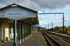 Gare ferroviaire de parc national Photos libres de droits