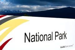 Gare ferroviaire de parc national Photos stock