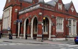 Gare ferroviaire de rive de Windsor et d'Eton Image libre de droits