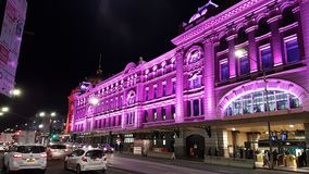Gare ferroviaire de rue de Flinders photos libres de droits