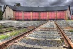 Gare ferroviaire de stationnement (HDR) Photographie stock libre de droits