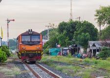 Gare ferroviaire de train de Khonkaen Photographie stock