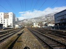 Gare ferroviaire de Vevey Photos stock